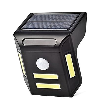 Mlec tech Lámpara Solar Luz Solares Foco Solar 3 Caras Detector de Movimiento Impermeable Iluminación Solar