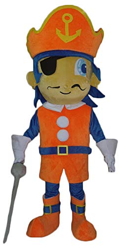 Funny Adult Size Pirate Mascot Costume for Party Carnival Outfits for TV Programme and Stage