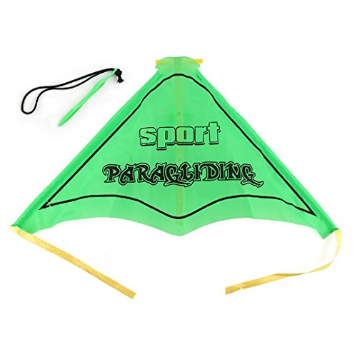 Lywey Kids Paragliding Flying Hang Glider Set Launch Catapult Slingshot Outdoor Toy (green)