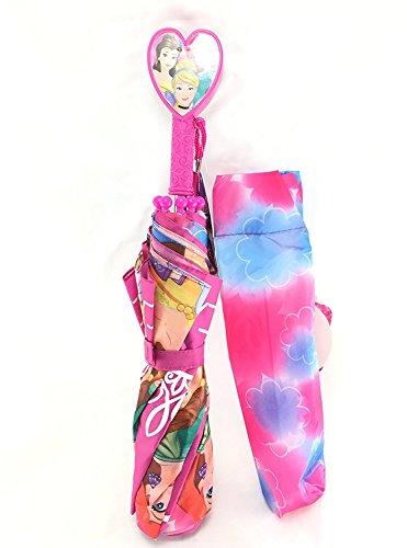 Disney Princess Color Change All Over Print Large Retractable Umbrella- Change color when wet! ()
