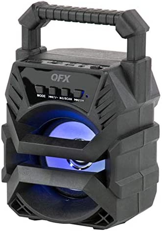 QFX Bt-1 3-inch Rechargeable Bluetooth Party Mini Speaker with Disco Light