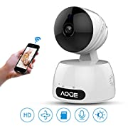 Wireless Home Camera,720P WIFI Network Indoor Security Surveillance Camera for Baby/Elder/Pet/Nanny Monitor, Pan/Tilt, 2-Way Audio,Motion Detection & Night Vision (720P)