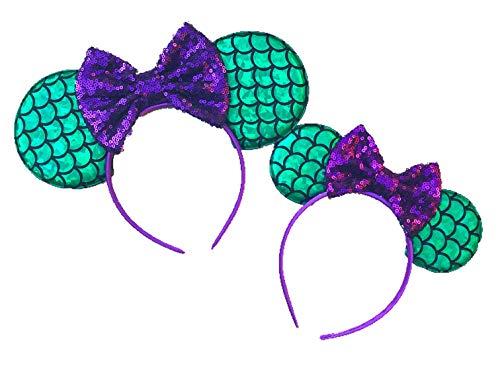 Mermaid Mouse Ears, Mommy and Me Little Mermaid