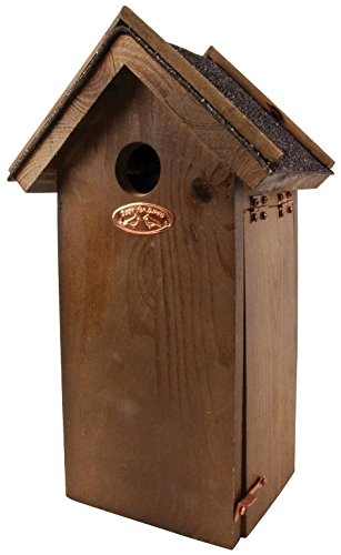Asphalt Roof (Esschert Design Antique Wash Chickadee Bird House with Asphalt Roof)