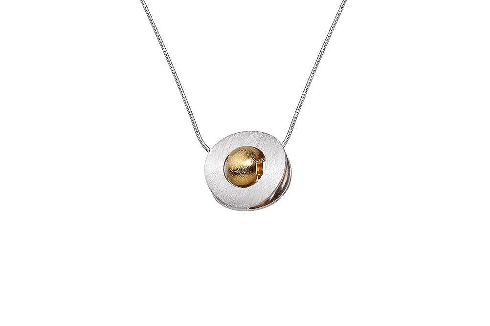 Collier perl/é pour Femme sans Nickel. Boule Ronde Argent dor/é