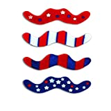 Kipp 12 Red White Blue Patriotic Costume Mustache Stick On Stickers