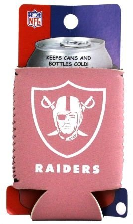 OAKLAND RAIDERS PINK WOMENS CAN KOOZIE COOZIE COOLER   B002NM1UPW
