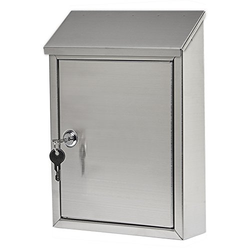 (Gibraltar Mailboxes Ashley Small Capacity Stainless Steel, Wall-Mount Mailbox, AWM00SS0)