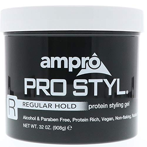 (Ampro Pro Styl Regular Hold Protein Styling Gel 32 oz (Pack of 6))