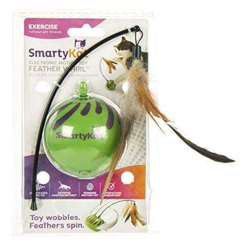 SmartyKat Feather Whirl Electronic Motion Cat Toy, As Seen On TV