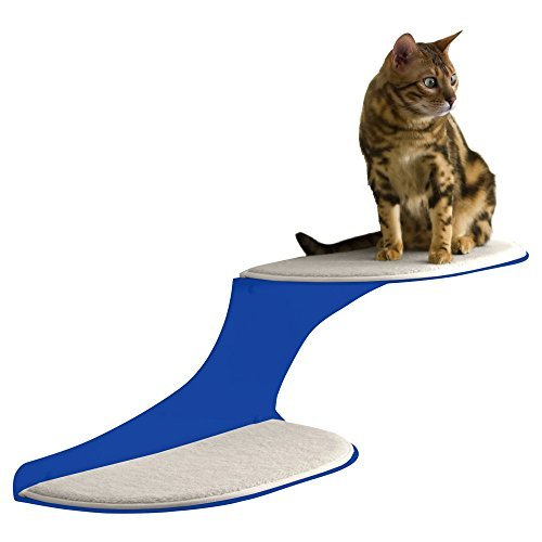 Cat Clouds Cat Shelf - Blue - Right Facing