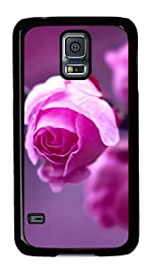Samsung Galaxy S5 Case,Samsung Galaxy S5 Cases - Pink Roses Branch Macro Custom Polycarbonate Hard Case For Samsung Galaxy S5 - Black