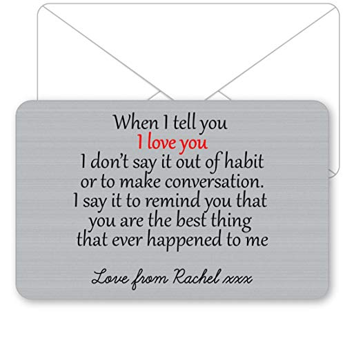 Sentimental Keepsake I Walked Into Love Metal Wallet Card Gift Present