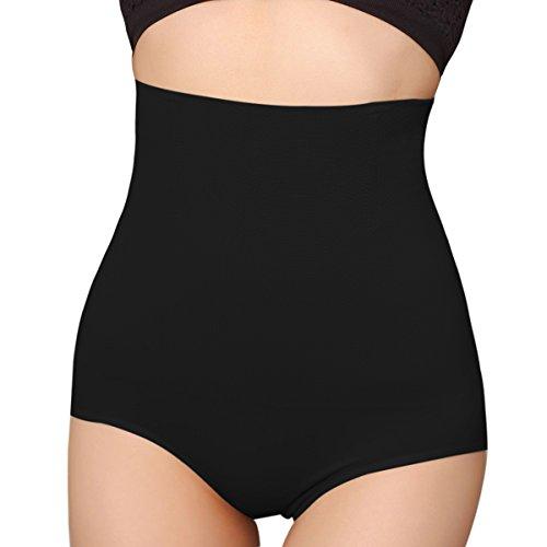 iLoveSIA Women's Hi-Waist Control Underwear with Waist Cincher Shapewear US 2-4 Black