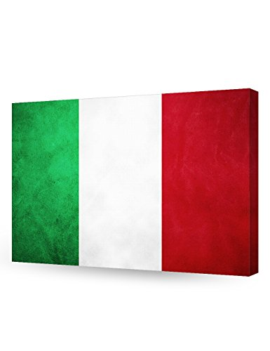 DecorArts - Italy Flag. Giclee Canvas Prints for Home Wall Decor 24x16