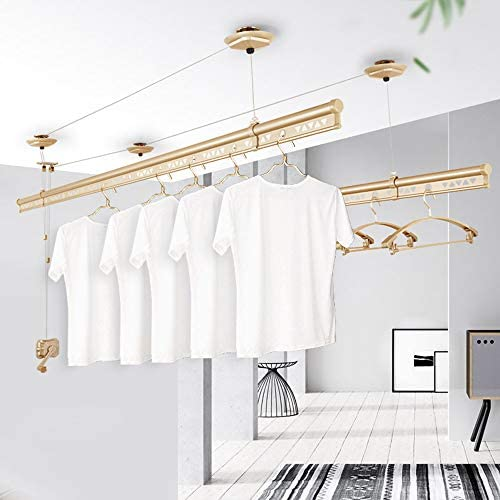 Ceiling Dryer 5x90cm Pulley White Airer Clothes Laundry Drying Space Saver Rack