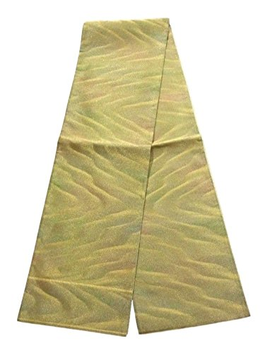 哲学ホバート習熟度リサイクル 袋帯  砂紋のような模様 正絹