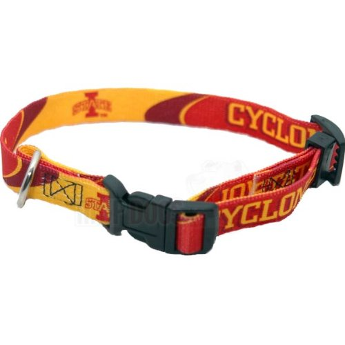 "Iowa State Cyclones NCAA Dog Collar L: 18-26"" length, 1"" width"