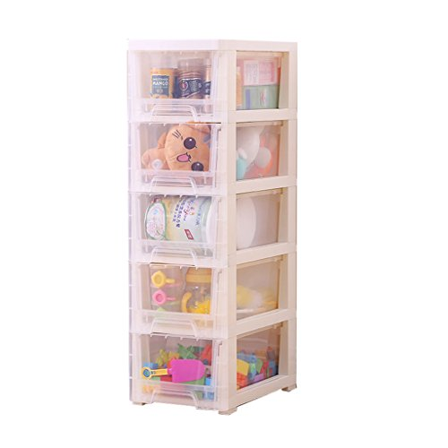 5 Drawer Large Plastic Storage Drawer Tower Multiware Transparent 5-Tier Plastic Stackable White Lockers Sundries Collation Cabinet (Size : 25cm)