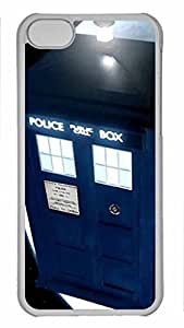 iCustomonline Doctor Who Hard Back Cover Snap on PC Transparent Case for iPhone 5C