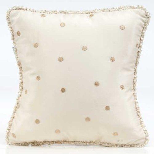 Glenna Jean Victoria Pillow with Cord, Mocha Dot by Glenna Jean   B007CB4JU2