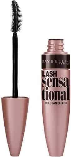 Maybelline Makeup Lash Sensational Washable Mascara, Blackest Black Volumizing Mascara, 0.32 fl oz