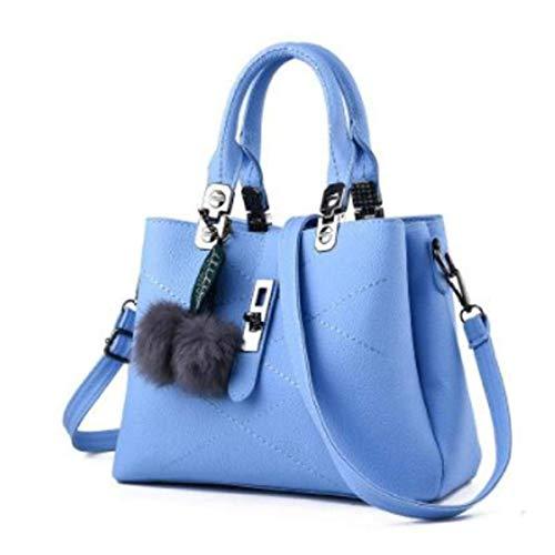 Azul Hombro Mujer al Negro xiaohu Negro 29cm×13cm×21cm para Claro Bolso qT1nxc8E