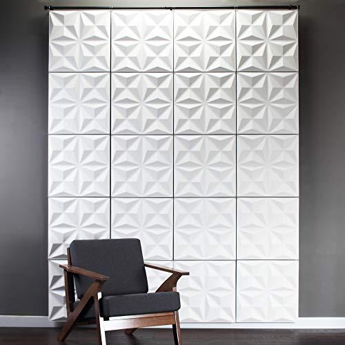 Inhabit Facet Wall Flat Hanging System - 3D Textured Wall Panels ()