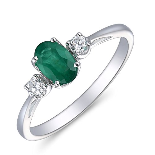 rs Day Gift, 14K Gold, Diamond & Emerald Ring,Diamond Ring,Emerald Ring (Emerald Diamond Ring Settings)