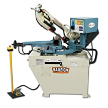 "Baileigh BS-260SA Hydraulic Semi-Automatic Band Saw, 1-Phase 110/220V, 1.5hp Motor, 1"" Blade, 8.93"" Round Capacity"