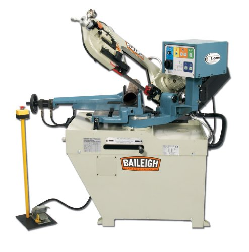 1 Phase Band Saw (Baileigh BS-260SA Hydraulic Semi-Automatic Band Saw, 1-Phase 110/220V, 1.5hp Motor, 1