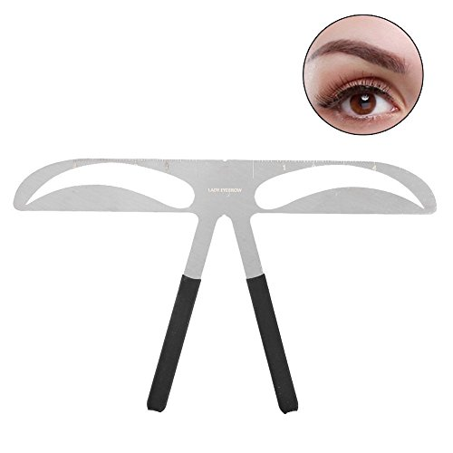 Eyebrow Shaping Stencil, 3 Types Professional Eyebrow Stencil Shaping Template DIY Shaping Define Ruler Makeup Tool(Lady Eyebrow)