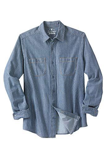 - Liberty Blues Men's Big & Tall Long-Sleeve Utility Shirt, Railroad Stonewash Denim Tall-5XL