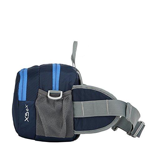 Bolsas de deportes al aire libre/bolso de múltiples funciones/Paquete de senderismo impermeable ligero/Hombres y mujeres suben bolsillos-azul azul