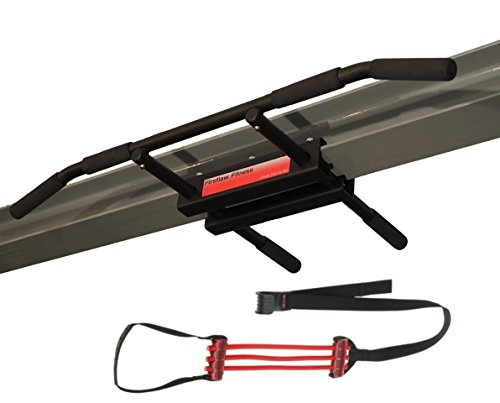Firstlaw Fitness - 600 LBS Weight Limit - I-Beam Pull Up Bar - Long Bar with Bent Ends WITH Pull Up Assist - Durable Rubber Grips - Red Label - Made in the USA! by Firstlaw Fitness