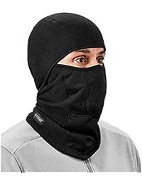 N-Ferno 6823 Balaclava Ski Mask, Wind-Resistant Face Mask, Hinged Design, Each, Black