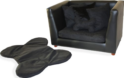 Deluxe Orthopedic Memory Foam Dog Bed Set, Medium, Black