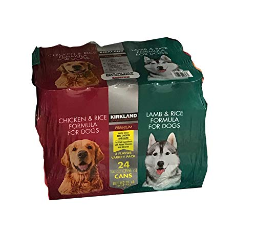 24 (13.2 Oz Each) Cans Nature's Domain Kirkland Variety Pack Stew Dog Food