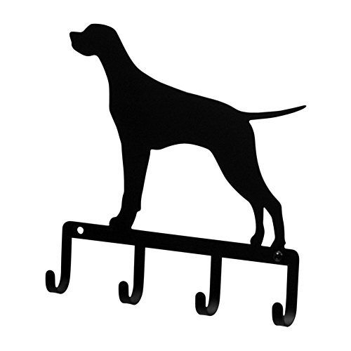 Iron Pointer Dog Key Rack - Jewelry Holder - Pet Leash Hanger - Heavy Duty Metal Keychain Car Key Holder, Key Hooks, Key Hanger, Key Organizers