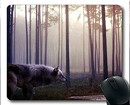 Yanteng Mousemat, Forest Wolf Gaming Mouse Pads (Multicolor
