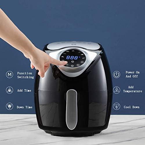 Smart Touch Screen Air Fryer, Ménage multifonction électrique Fryer, 4,5 L, frites sans fumée française Machine, 1300W, 220 V, 30 minutes minuterie