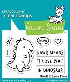 - Lawn Fawn Lf1555 Rawr Clear Stamp Set