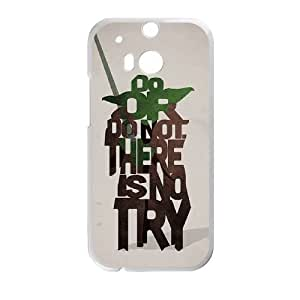 Personalized Durable Cases HTC One M8 Cell Phone Case White Do or do not There is no try Emeev Protection Cover