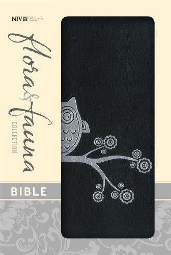 (Holy Bible: New International Version, Black/Silver Owl, Italian Duo-Tone Flora and Fauna Collection)