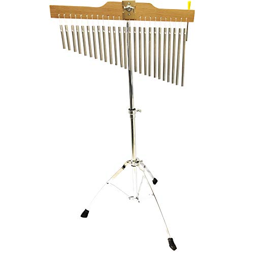 (Luvay 25-Bar Chimes Musical Instruments with Stand and Stick - Kids' Drum Set & Percussion Instruments)