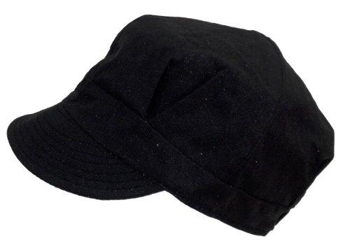 Ladies/Women Shimmering Glitter Newsboy Hat w/Soft Visor (One Size)