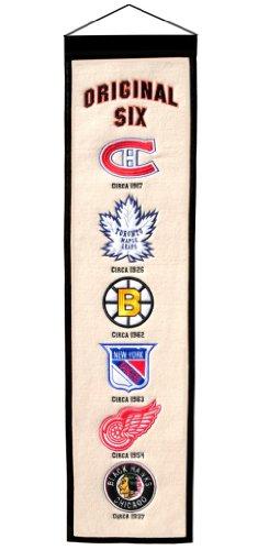 (Nhl Original Six Wool 8''x32'' Heritage Banner)
