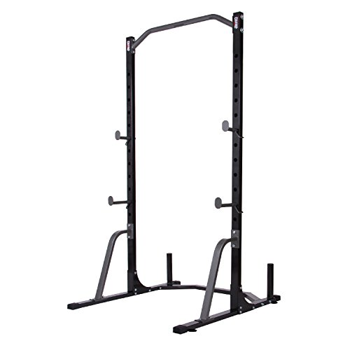Body Champ Power Rack System with Band Pegs (resistance bands training) / Built in Optional Floor Mount Anchors