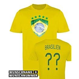 Comedy Shirts Fille Maillot de Football imprimables-Nom et numéro personnalisé-WM/Tous Les Pays-100% Polyester-Maillot à col Rond Disponible en diverses Couleurs et Tailles