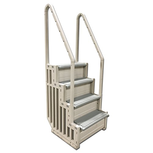 Confer Staircase Style Above Ground Pool Steps Warm Grey - (Ground Step)